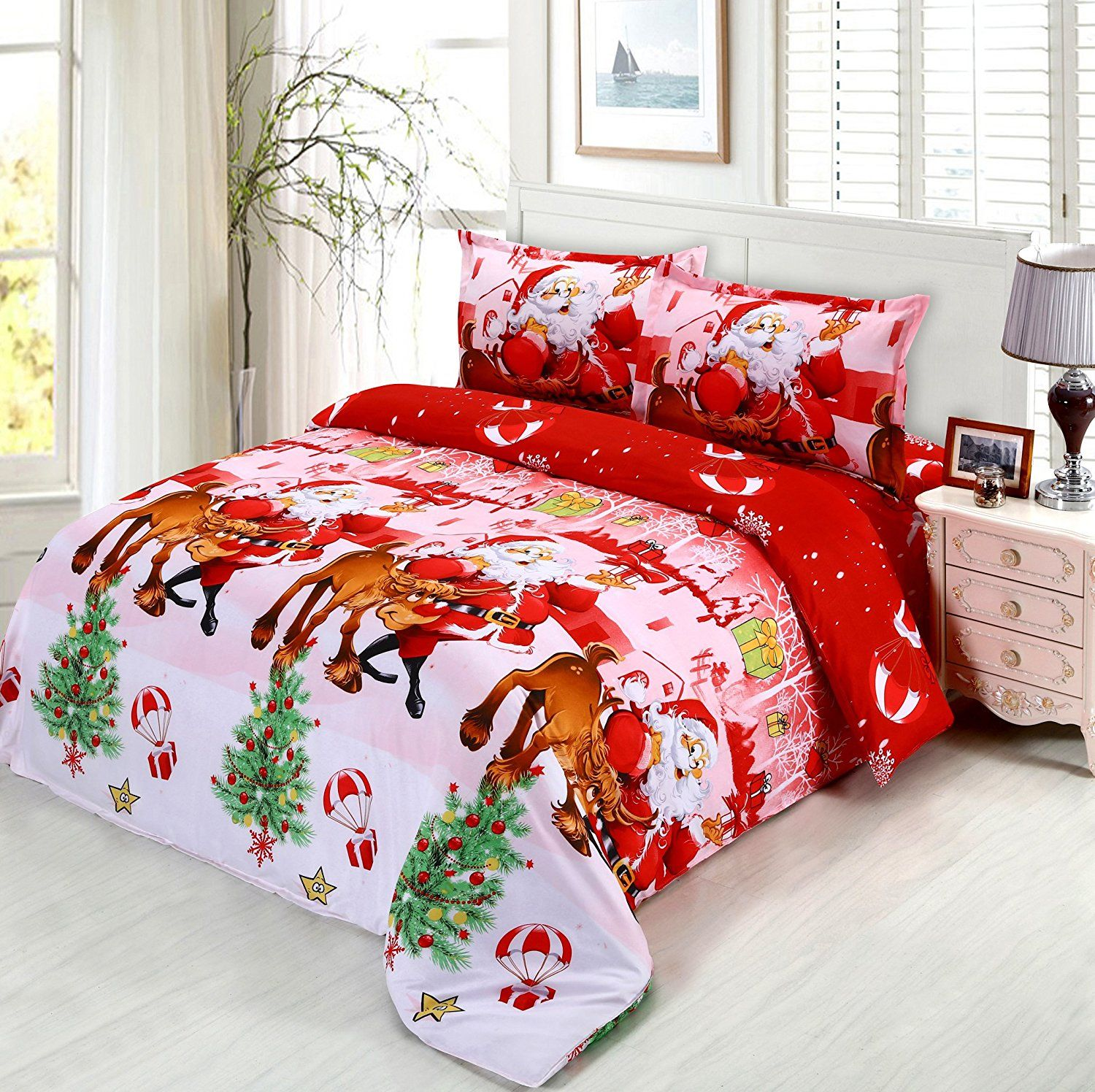 christmas comforter sets queen size