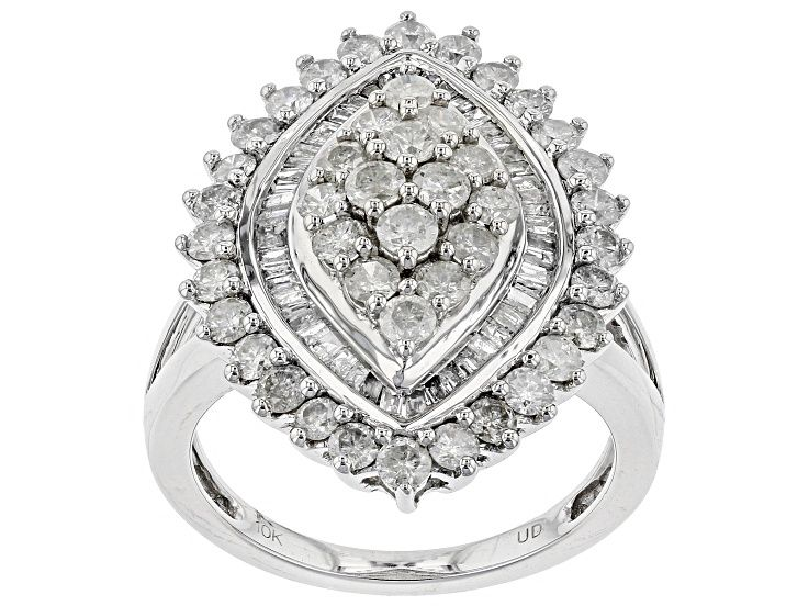 White Diamond 10k White Gold Ring 2 00ctw Prv2470 White Gold Rings White Gold Gold Rings
