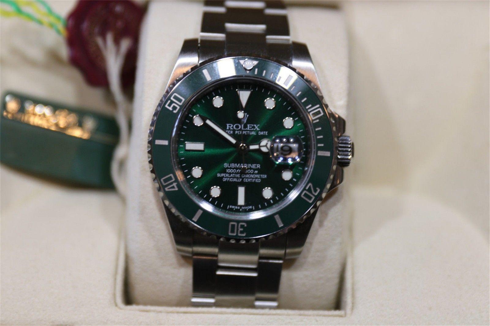 #Trending - Rolex Submariner CUSTOM Green Dial Stainless Steel Mens Dive Watch https://t.co/yKGHKhDBty #Ebay https://t.co/2k5IcvVuQx