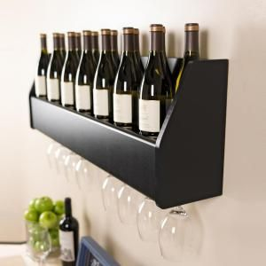 Prepac 40.75 in. Black Wine Rack BSOW-0200-1 at The Home Depot - Mobile