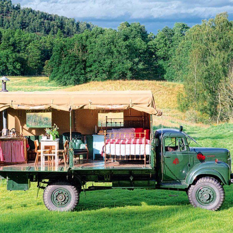 En Ecosse une chambre dhtes dans un camion  Camtaaard  Petite Caravane Maison sur roues