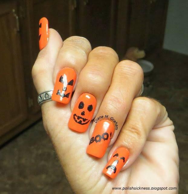 classic Jack O'Lantern nails