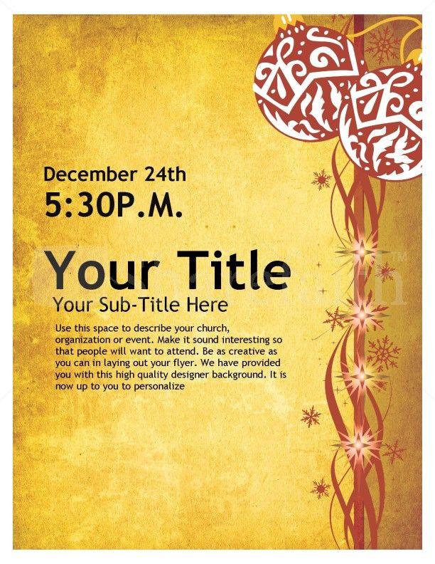 Christmas Flyer Design page 1 Free christmas flyer