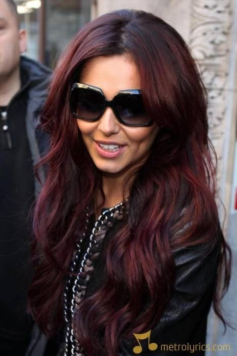 Cheryl Cole Purple Hair
