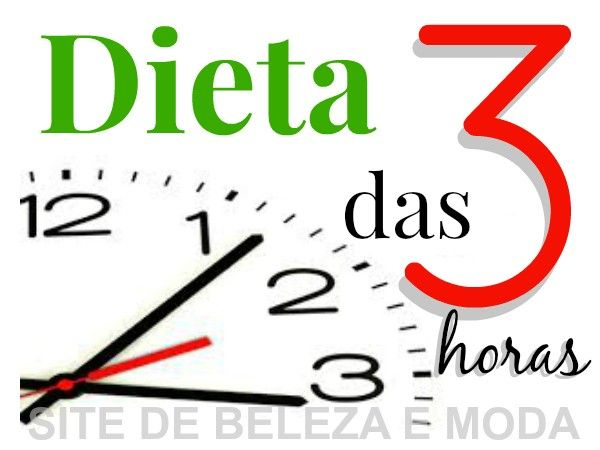 dieta de 3 em horas
