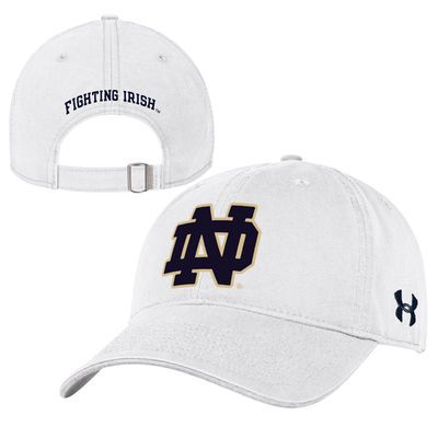 Notre Dame Fighting Irish Under Armour Women s Wordmark Relaxed Adjustable  Hat - White 37603e7e71