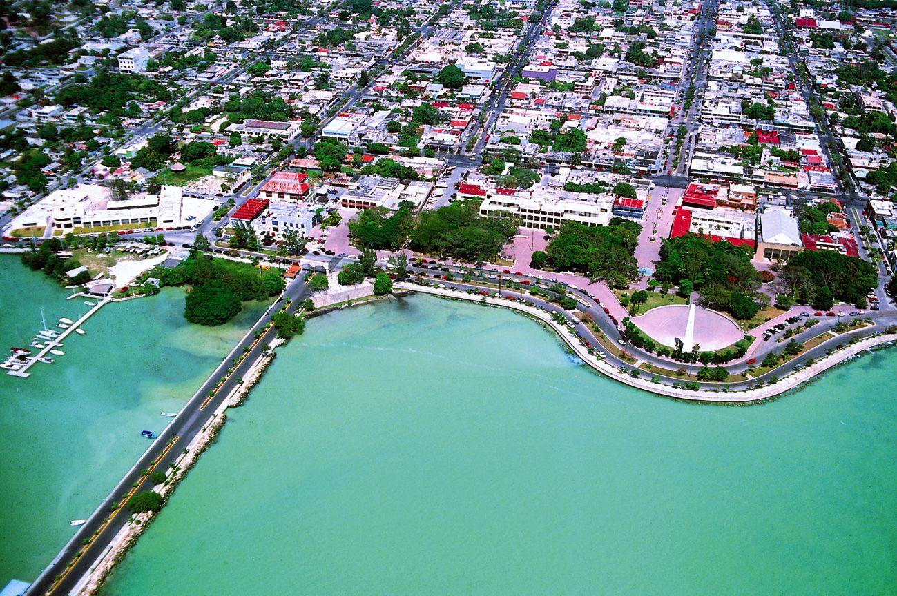 Vista Aérea De La Bahía De Chetumal Turismo En Mexico Chetumal Viajar A Estados Unidos