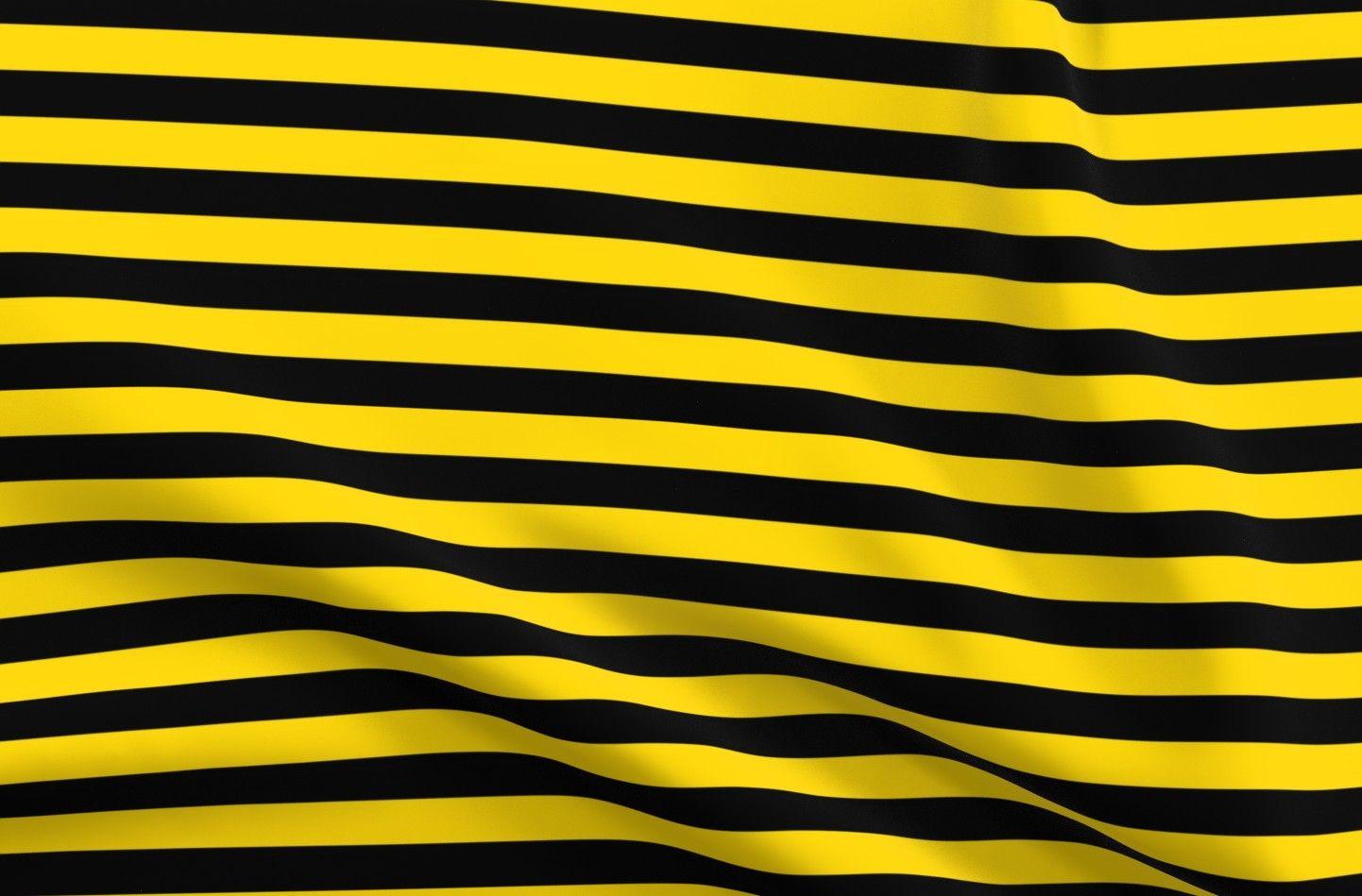 Fat Quarter Geometric Yellow and Black