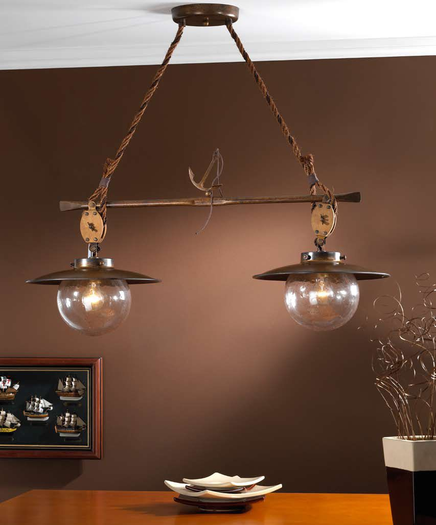 Preciosa lmpara para iluminar mesa de comedor