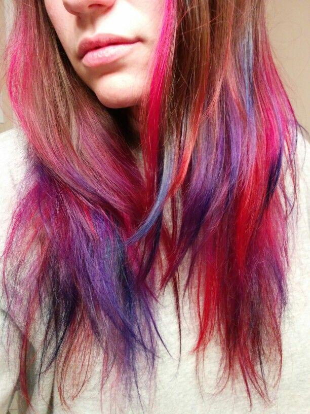 Ombre. Mermaid hair. Rainbow hair. Jewel tones. Joico. Long hair. Cool colours. Unicorn. Cool colours.