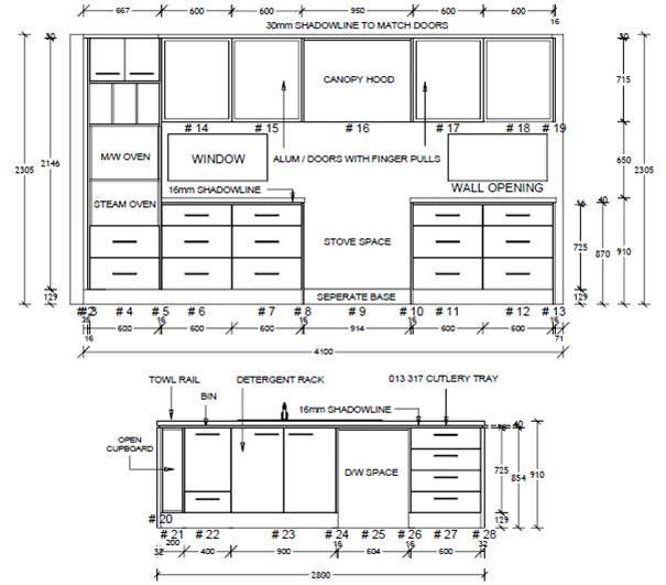 Interior Design Modern Kitchen Drawers, How Deep Is A Standard Kitchen Drawer