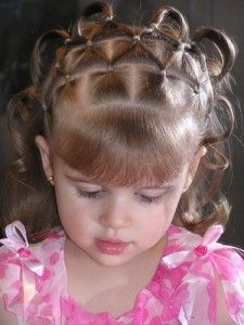 Kids Hairstyles For Girls little girl hairstyle french braid pony tail curls high pony volumized pony hair blonde platinum Little Girl Hairstyles Ideas To Try This Year