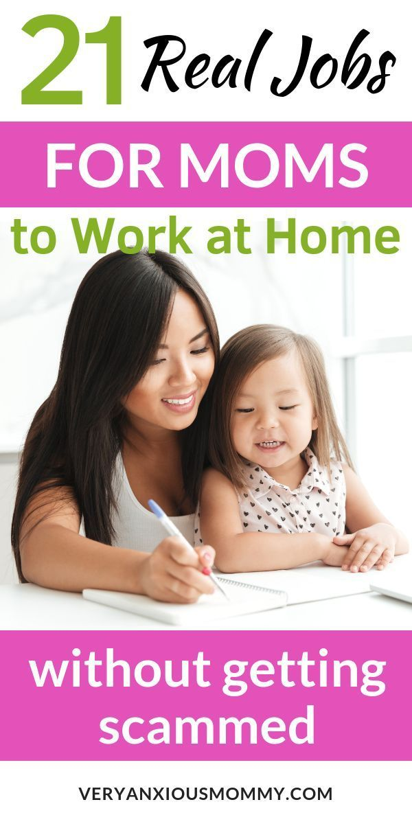 21 Legit Work at Home Jobs for Stay-at-Home Moms #stayathome