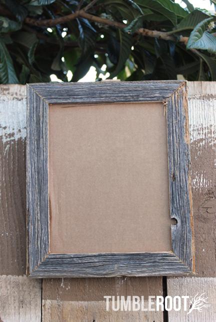 Reclaimed, up-cycled, handmade rustic barnwood frame. 16x20\