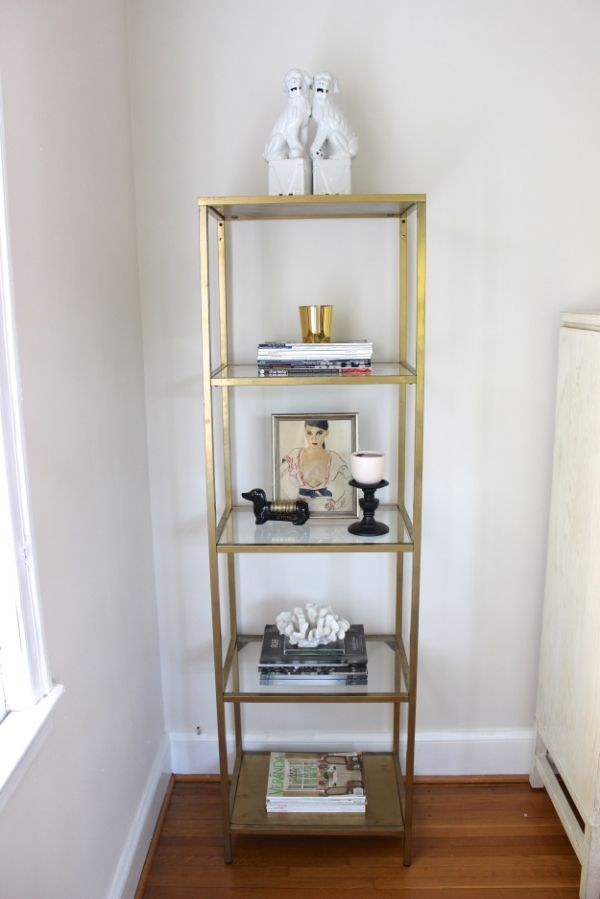 Diy Simple Ikea Hack To Gold Etagere With Images Ikea Hack