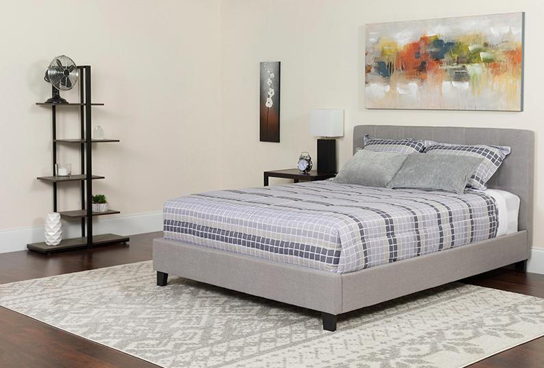 Flash Furniture Chelsea Twin Size Light Grey Platform Bed