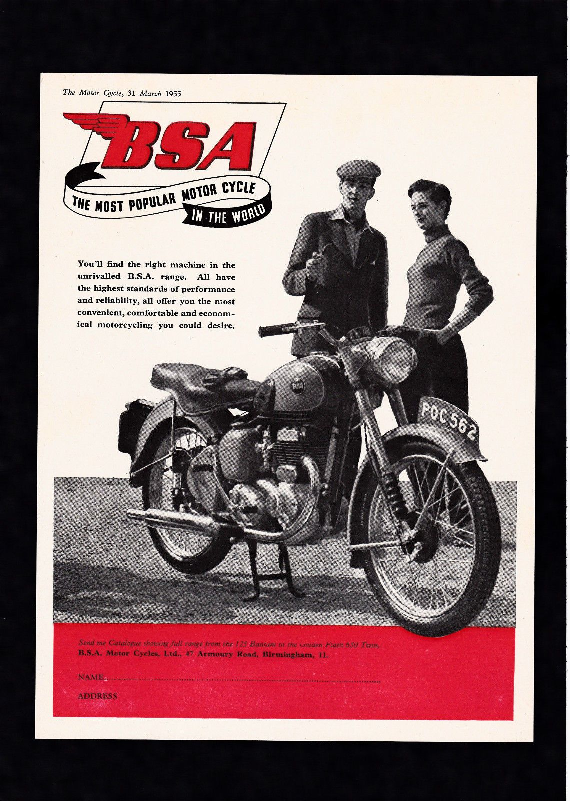 1955 Bsa C10l C10 250 Sv 250cc Motorcycle Original Magazine Advert Ebay Vintage Motorcycle Posters Bsa Motorcycle Vintage Motorcycles