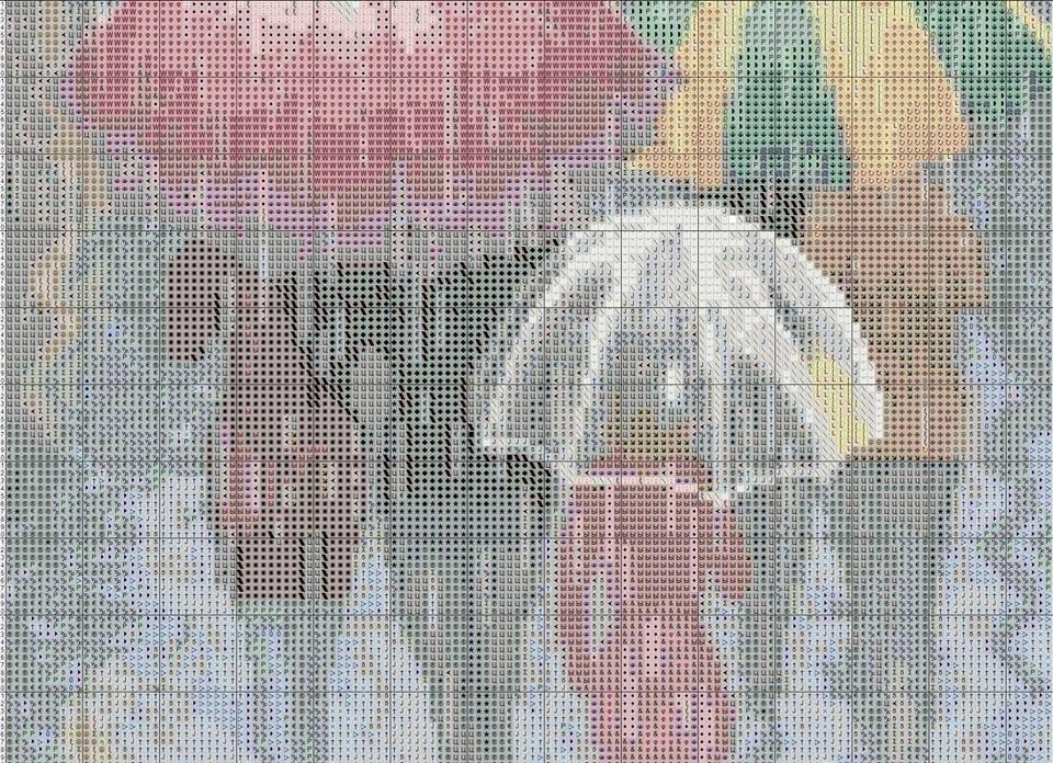 Paraguas 3 | ordenado | Pinterest | Paraguas, Punto de cruz y Puntos