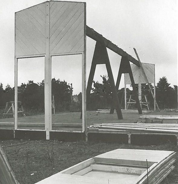 Junzo Sakakura. Prefabricated architecture, first experiment, 1941. © Sakakura Office, Tokyo