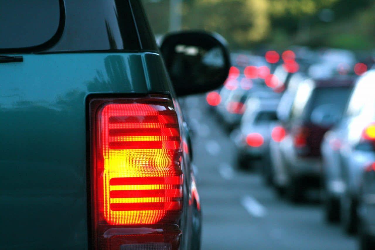 Verkehrsunfall Reißverschlussprinzip bei
