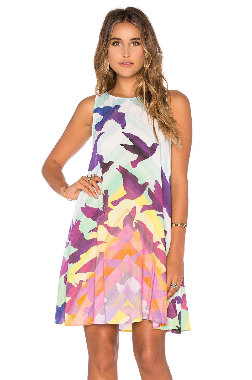 1d17e816b78 Mara Hoffman Swing Mini Dress in Prismatic