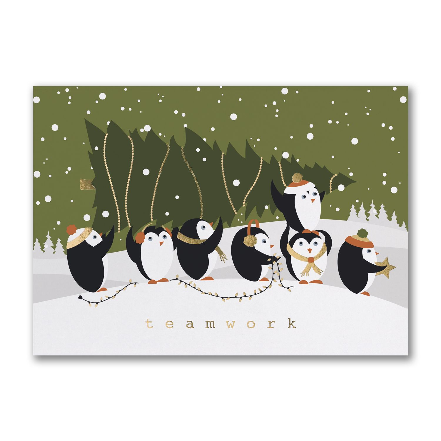 Pulling Together Teamwork Personalized Holiday Cards Http