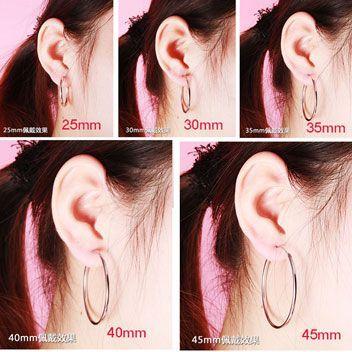 Hoop Earring Sizes Google Search