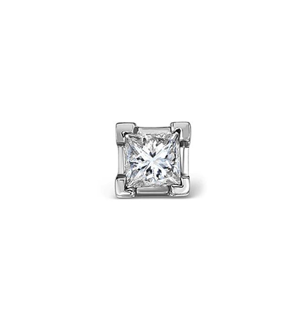 Single Stud Princess Diamond Earring 0 50ct H Si In 18kw Gold 4 8mm Item Fg24 72juyu Mens Diamond Earrings Diamond Studs Diamond Earrings Studs