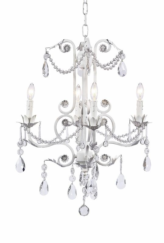 I adore chandeliers in girls bedrooms