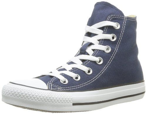 Converse All Star Chuck Taylor Junior Kids Hi Classic Navy Canvas Ankle  Trainers Shoes - 12