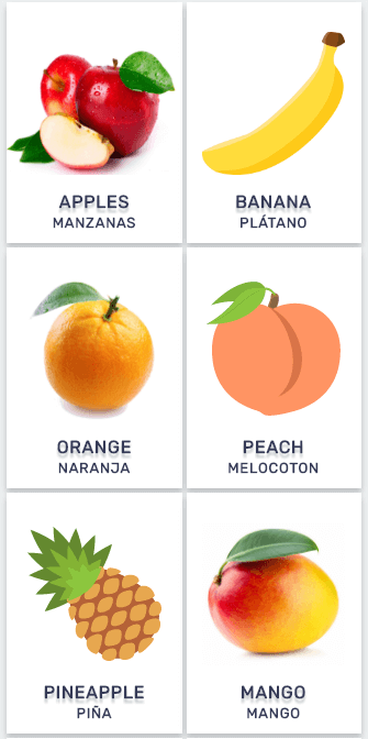 Lista de Frutas en Inglés -Frutas en inglés y español mas populares ...