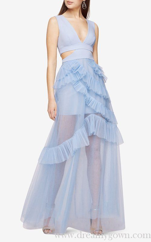 29152a3cf26a 2017 BCBG Cutout Layers Joela Pleated Tulle Sexy Evening Gown ...
