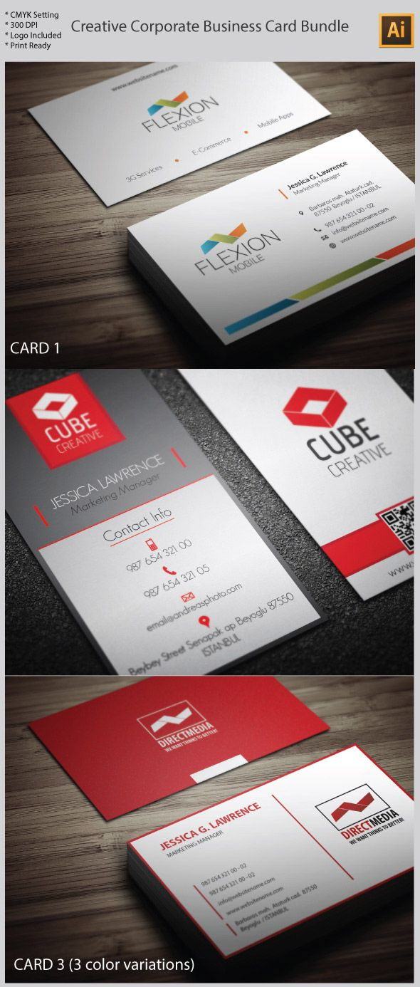 Creative Illustrator Vector Business Card Formats | Business Card ...