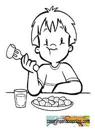 Drawing Of Child Eating Google Search Drawing For Kids Coloring Pages Drawings