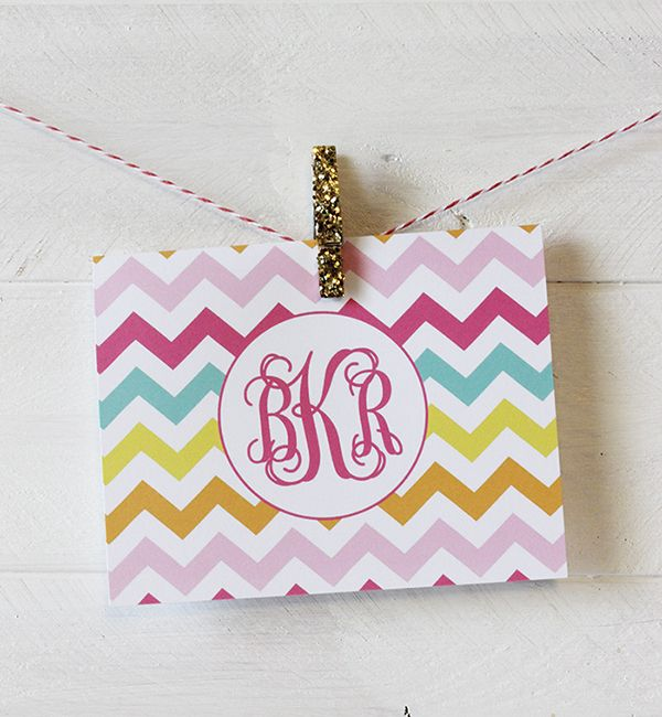 Monogram note card sets on sale for $11.99! Comes in different designs and colors. Use the code jbnotecardsale at checkout