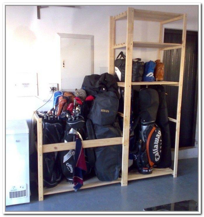 Diy Golf Bag Storage Garage Pinterest Golf Bags