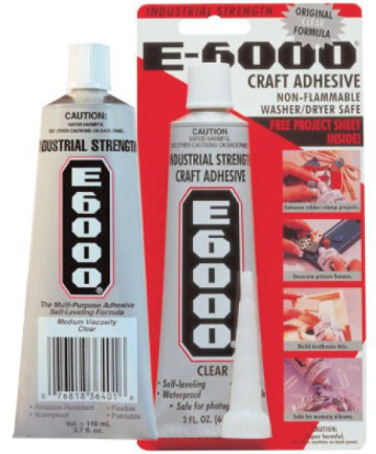 How To Prevent E6000 Glue From Drying Out And Curing Over Time Put A Piece Of Plastic Wrap Over The Tip Before Capping St Helpful Hints Household Hacks Hints