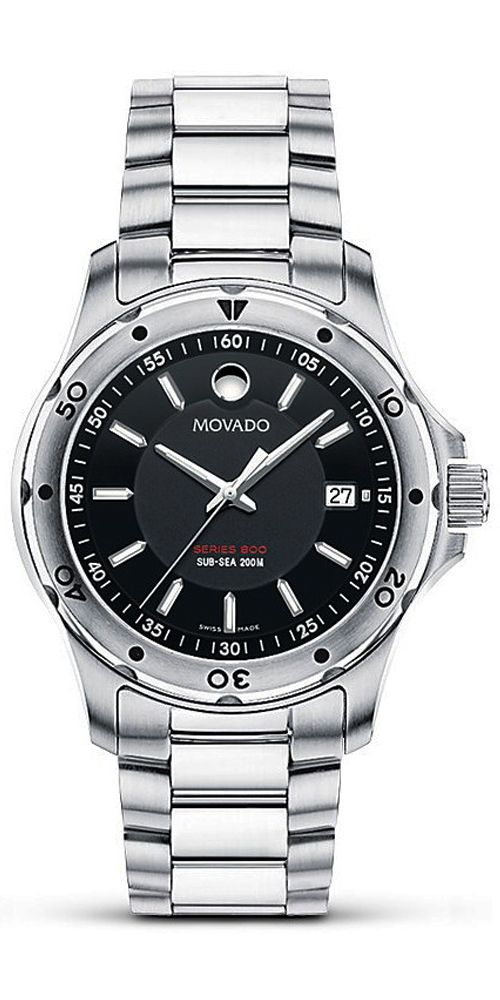 Movado series 800 model number 2600074 movement quartz retail 795 actual price 500 for Retail price watches