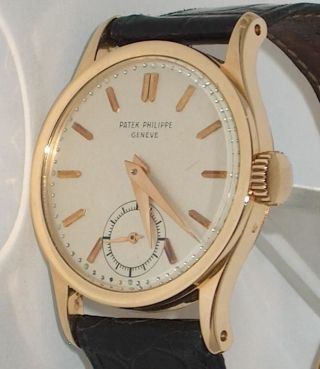 ccb5980f39b1 Scarce Men   S Vintage 18k Gold Patek Philippe Calatrava Ref 96 - photo