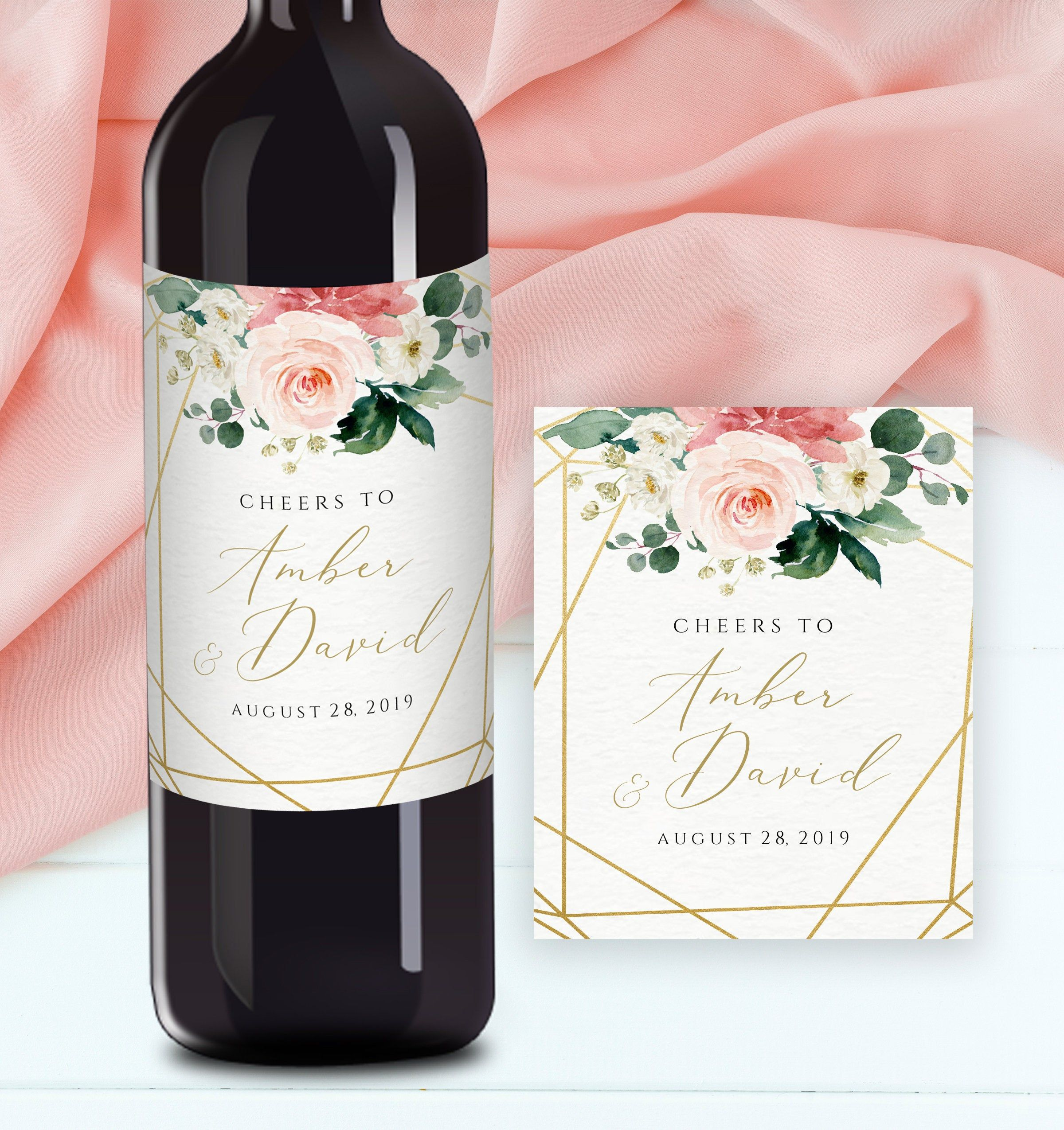 Wedding Wine Label Editable Wedding Wine Labels Couples Wine