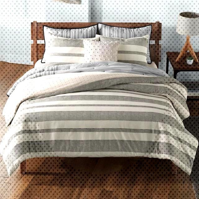 Comfortersetsfarmhouse Farmhouse Sonoma Stripe Goods Duvet
