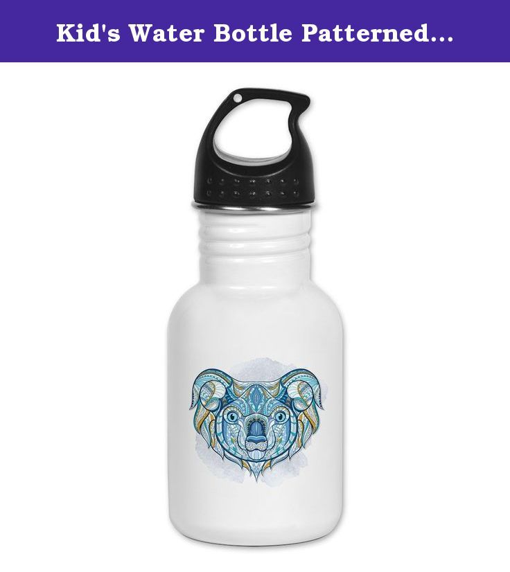 Kid's Water Bottle Patterned Koala Bear. Product Number: 0001-1764625136 Perfect for school lunches or soccer games, our kid's stainless steel water bottle quenches children's thirst for individuality. Personalized for what kids love, it's both eco-friendly and compact. Made of 18/8, food-grade stainless steel. * No lining & no BPA or other toxins * Wide mouth for easy drinking * Durable, BPA-free & phalate-free screw-on top * Holds 0.35L (nearly 12 ounces) * Thin profile to fit most cup...