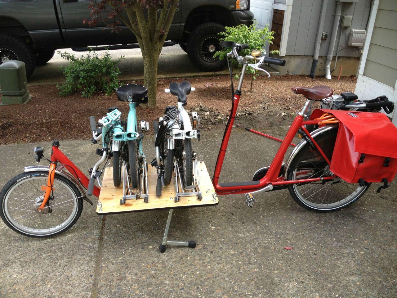 Workingbikes A Bike Carrying Bikes By Bike Mechanic Man On