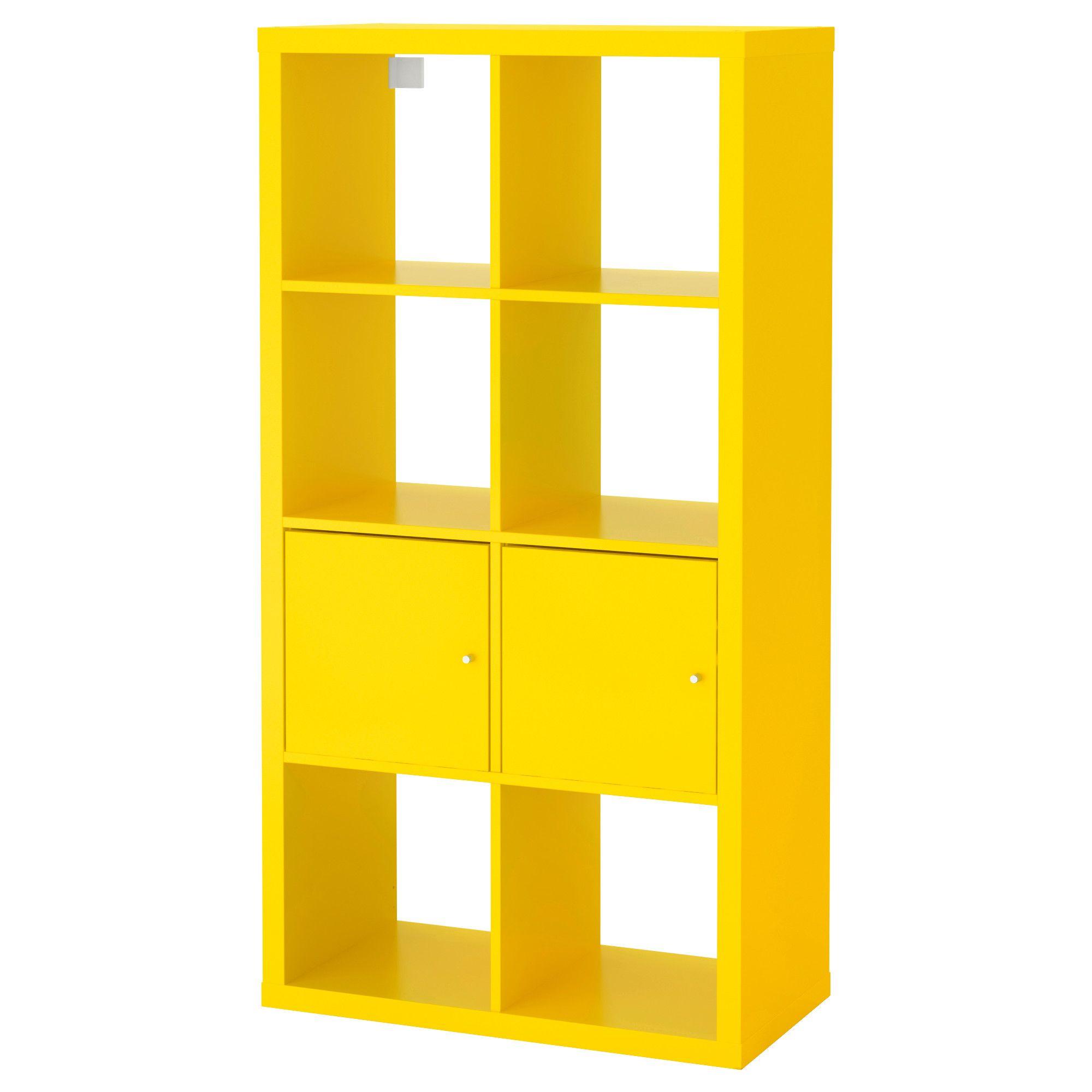 Elegant KALLAX Regal mit T ren gelb Jetzt bestellen unter https moebel