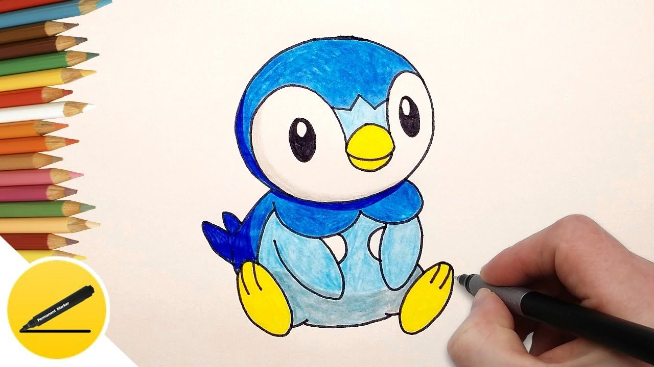 How to draw piplup step by step pokemon go youtube
