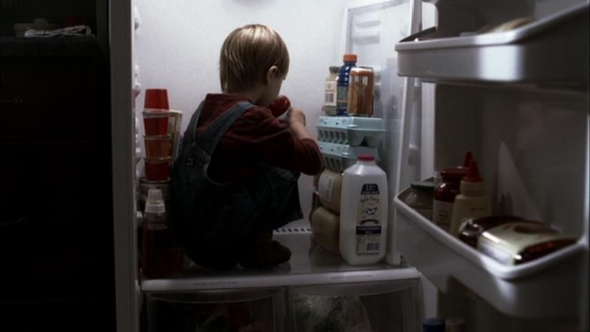 Home: Who let the baby out then traped him in the fridge