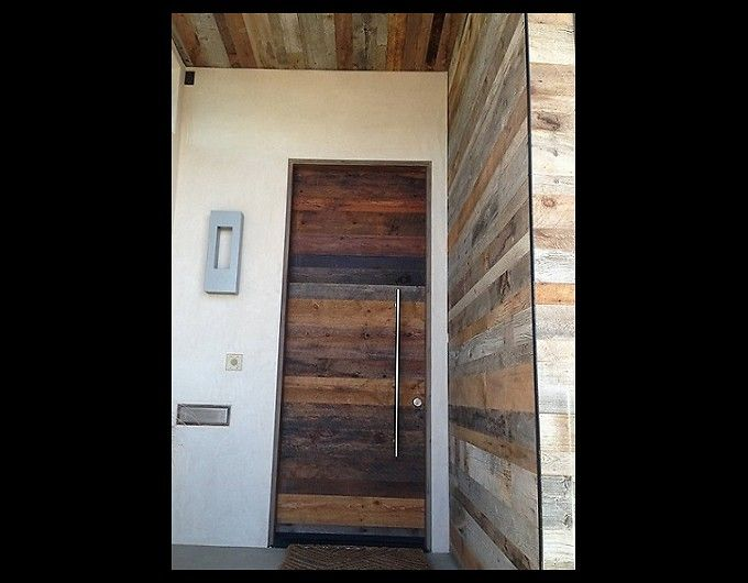 Lsh Reclaimed Wood At Entry Door Guy Exterior Finishes