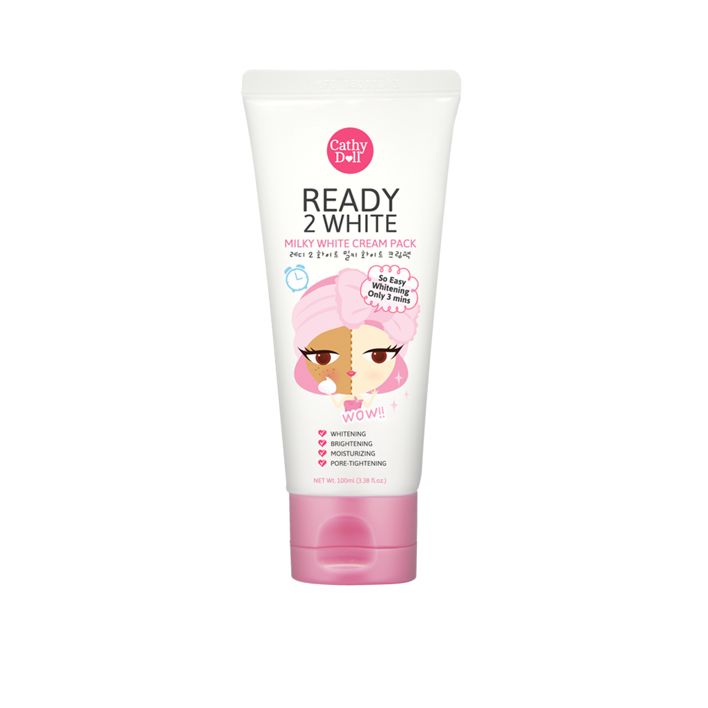 Cathy Doll Ready 2 White Milky Cream Pack 100ml Whitener Body Lotion 150ml Thailand Beauty Products Supplier