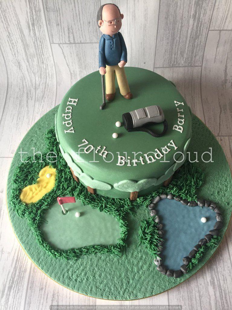 A golf themed birthday cake Celebration Cakes Pinterest