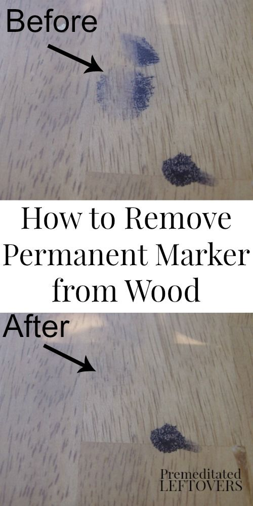 How To Remove Permanent Marker From Wood Cleaning Tips For